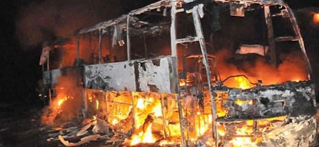 Çin'deki otobüs yangını: Ölü sayısı 47