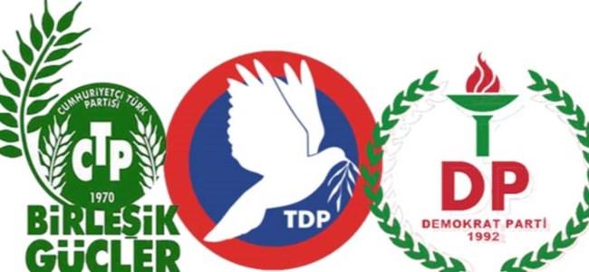 CTP-BG, DP-UG ve TDP Meclis'te bir araya geldi