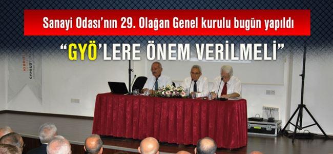 Sanayi Odası'nın 29. Olağan Genel Kurulu bugün yapıldı