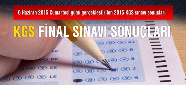 2015 KGS Final Sınavı Sonuçları