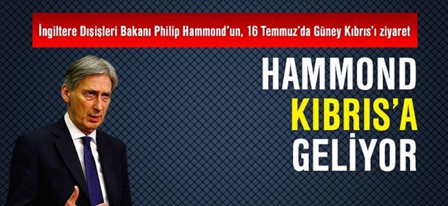 İngiltere dışişleri bakanı Hammond Kıbrıs'a geliyor
