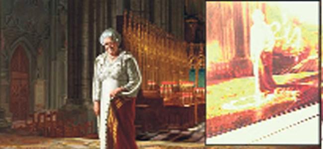 'Kilise'deki Kraliçe' saldırıya uğradı