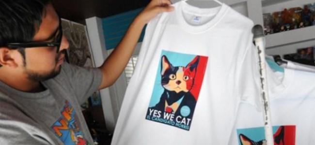 Bu kedi başkan adayı...