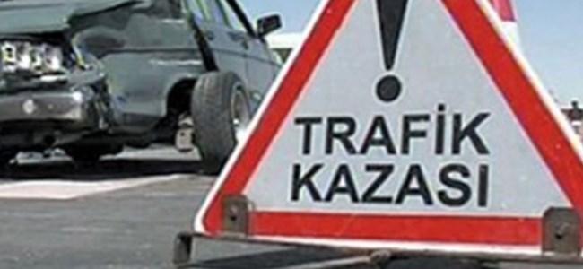 Bafra Yolunda Trafik Kazası!