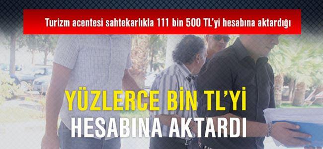 Yüzlerce bin TL'yi hesabına aktardı