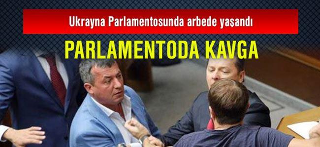 Ukrayna parlamentosunda kavga