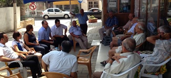 TDP Girne Vekil Adayları Türk Mahallesi'ni Ziyaret Etti