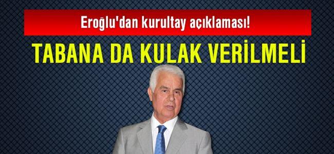 Eroğlu'dan kurultay açıklaması!