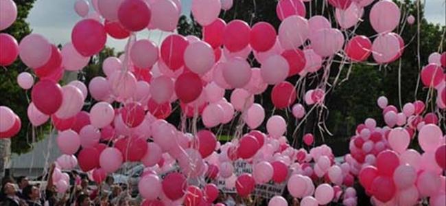 Gökyüzüne pembe balonlar bırakılacak