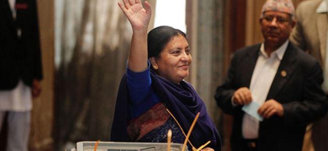 Nepal'e ilk kadın cumhurbaşkanı