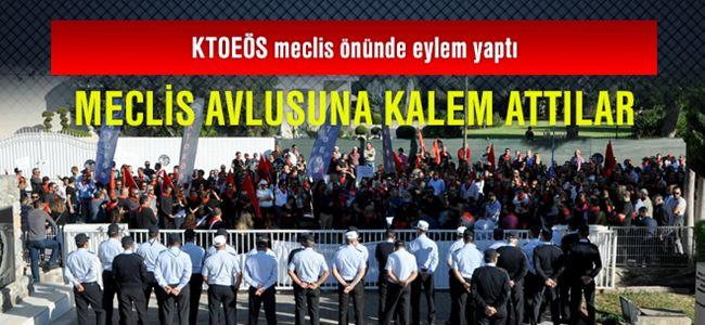KTOEÖS meclis önünde eylem yaptı