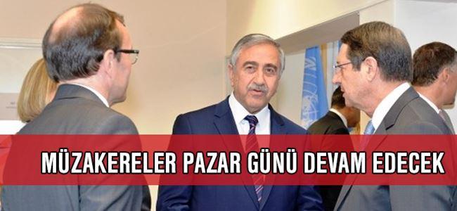 Kıbrıs Müzakereleri pazar günü devam edecek
