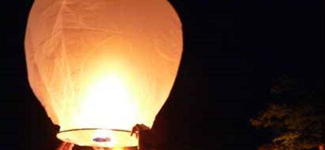 Dilek Balonu Yangına Neden Oldu