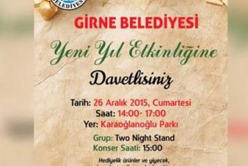Girne Belediyesi yarın Karaoğlanoğlu'nda yeni yıl etkinliği düzenliyor