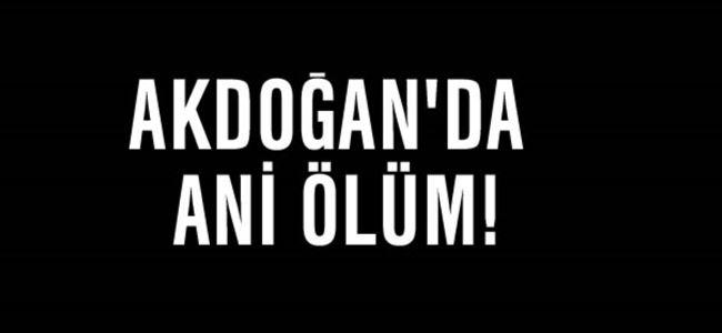 Akdoğan'da Ani Ölüm!