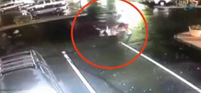 Kadına şiddet saniye saniye kamerada (Video)