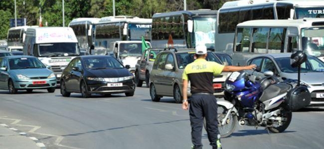 Trafikte 784 sürücüye işlem