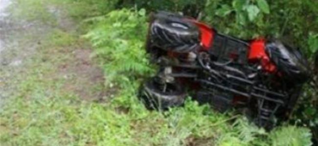 Kanlıköy'de ATV kazası! 2 yaralı