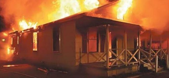 Alayköy'de ev yangını!