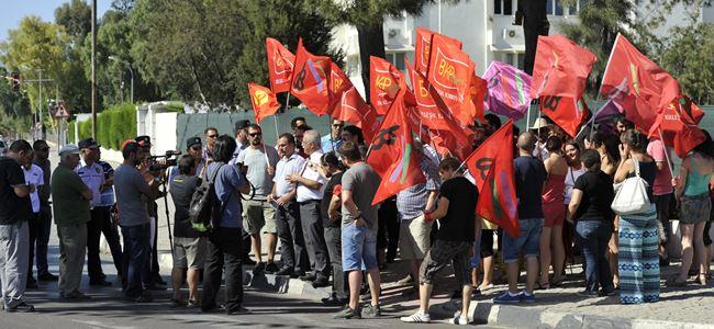 BKP-TVG TC Elçiliği önünde eylem yaptı
