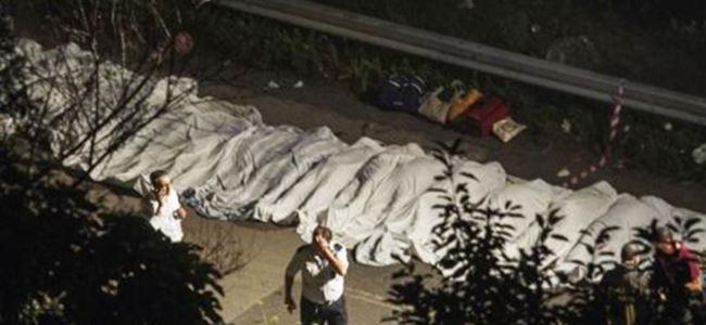 İtalya'da otobüs faciası: 36 ölü