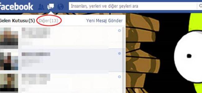 Facebook'un 'görülmeyen' mesaj kutusu