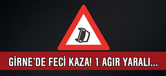 Girne'de feci KAZA! 10 yaşındaki çocuk ağır yaralandı...