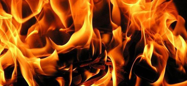 Lefkoşa Güzelyurt anayolu üzerinde yangın!