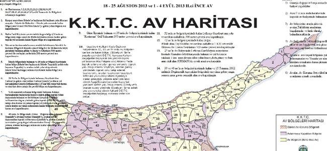 Üveyik avı için av haritası yayınlandı
