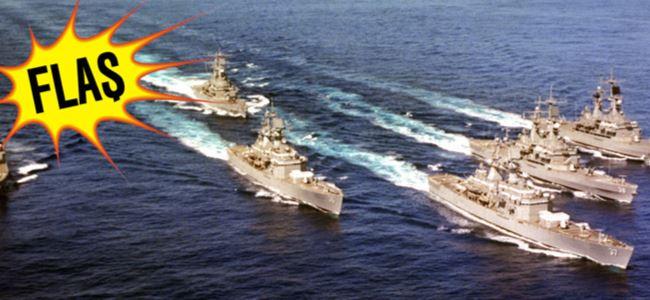 ABD donanması bölgede