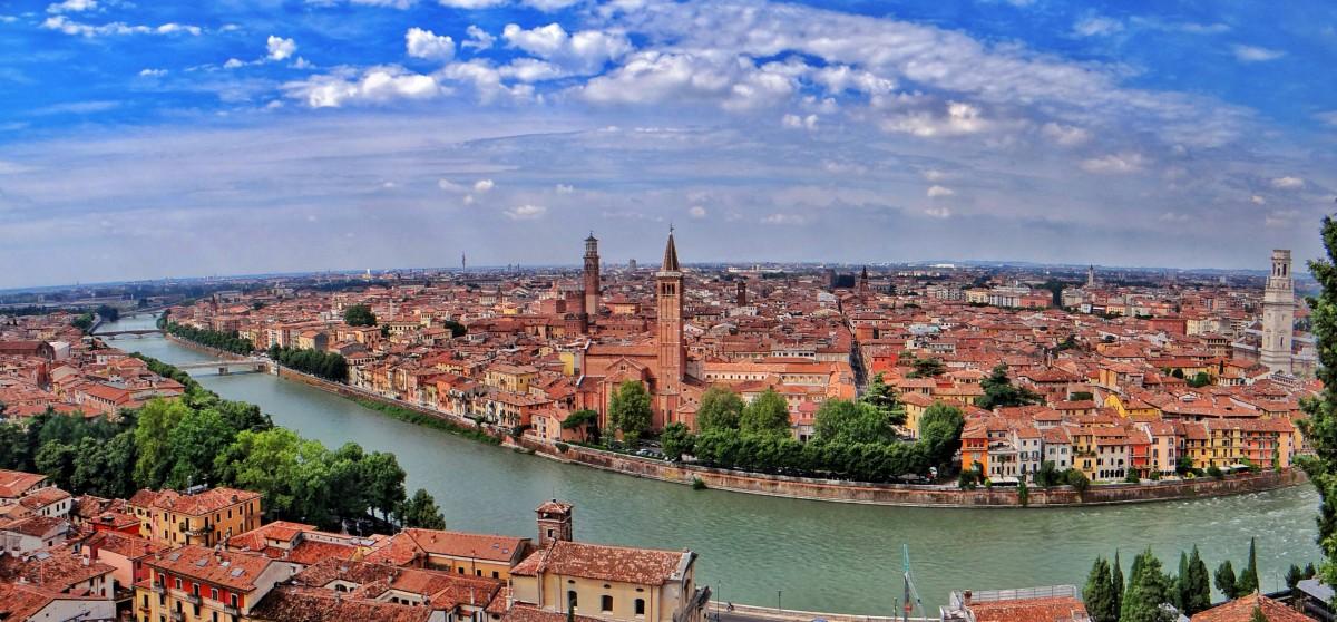 Verona italya panaroma