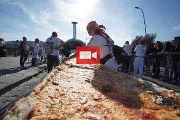 Pizza'da yeni rekor: Bin 853 metre