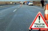 Trafik kazasında biri ağır 2 kişi yaralandı