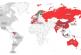 Dünya haritası kırmızıya büründü