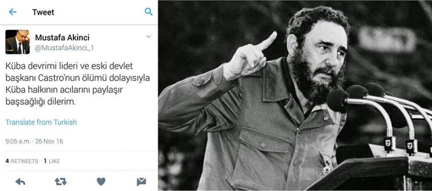 Photo of Akıncı'dan Küba halkına başsağlığı mesajı