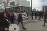 Öğrenciler Lefkoşa'da eylemde