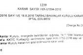Yedi yurttaşlık iptal edildi