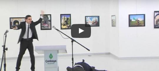 Rus Büyükelçi'nin vurulma anı ortaya çıktı