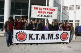 KTAMS Girne'de Grev Yaptı