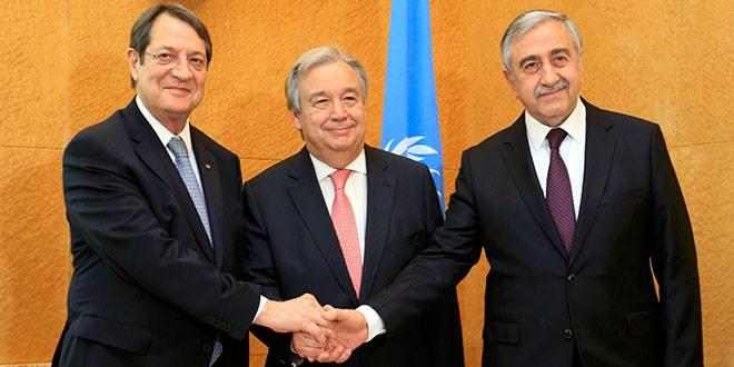 Antonio Guterres, Akıncı, Anastasiadis