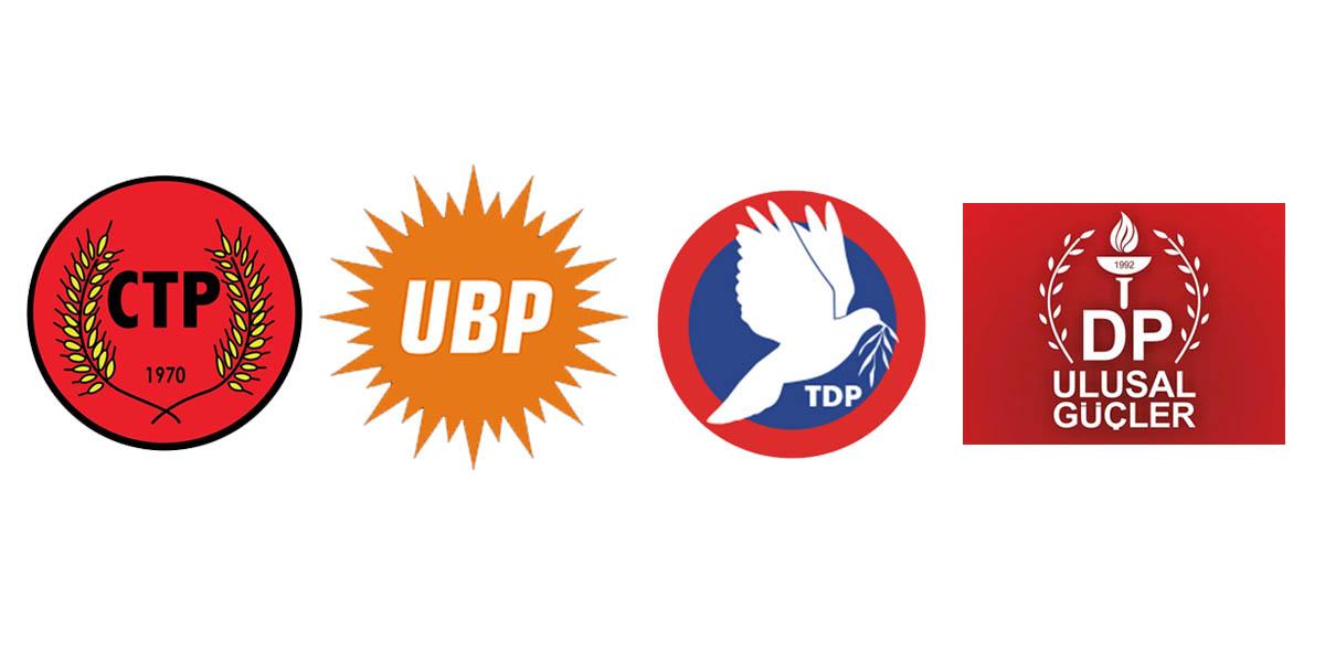 Siyasi partiler CTP, DP, UBP , TDP