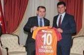Özgürgün, Galatasaray Spor Klübü Başkanı Özbek görüştü