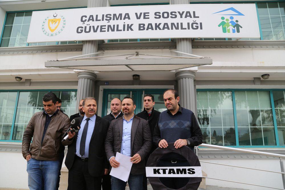 Photo of KTAMS, Çalışma Bakanlığı`nı protesto etti