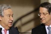 BM Genel Sekreteri Guterres, Anastasiadis ile görüştü