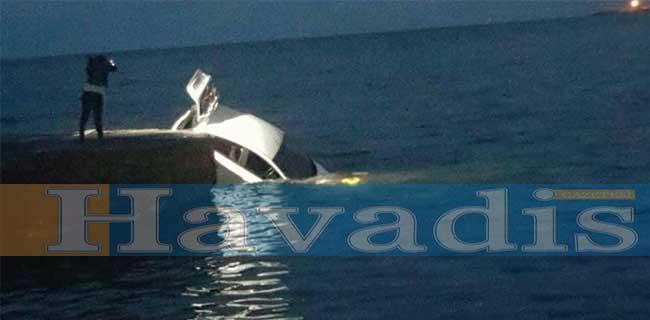 Photo of Girne Kaşgar bölgesinde bir araç denize uçtu