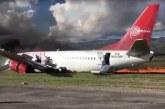 141 kişi taşıyan uçak bu hale geldi