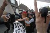 Femen'den Le Pen'e üstsüz protesto