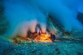Dünyanın en büyük asit volkanı krateri Endonezya'da