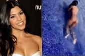 Kardashian çırılçıplak havuza girdi