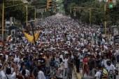 Venezuela'da sessiz yürüyüş